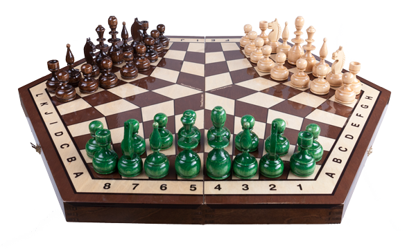 The First Online Three-Player Chess Challenges Amateurs and Grandmasters Alike